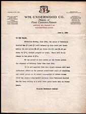 Watertown MA 1930 -  Wm Underwood Deviled Ham Canned  Vintage Letter Head Rare