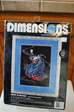 Vintage 1995 Cross Stitch Kit Dimensions Magic in Motion Unused 3788