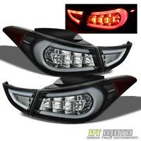 Fit 2011-2015 Elantra Black LED Tail Lights Brake Lamps 11-15 Left+Right