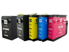 5x For HP 932XL 933XL Ink Cartridge 2BK+C+M+Y Officejet 6100 6600 7610 Brand New