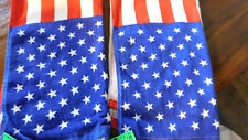 Set of 2 American Flag Design Hand / Kitchen Towels • Nwt