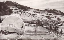 SW-Ansichtskarte von Nesselwang im Winter mit Skilift  (267)