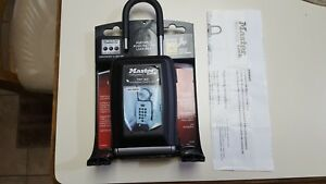 MASTER LOCK - SAFE SPACE LOCK BOX - PORTABLE PUSH BUTTON - W/INSTRUCTIONS