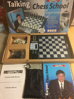 MILLENNIUM TALKING CHESS SCHOOL LEARN PLAY ELECTRONIC CHESS ANATOLY KARPOV 2004
