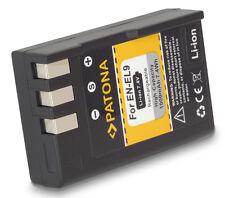 Li ion Akku für Nikon EN-EL9 EN-EL9a D40 D40x D60 D3000 D5000