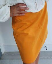 Zara bright yellow colour skirt 100% cotton size M RRP £29.99