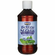NOW Foods Glycerite Better Stevia Liquid Food Sweetener 8 oz Liquid 07/20EXP
