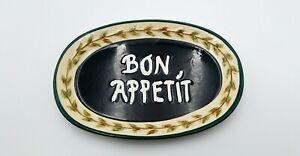 "2002 California Pantry ""Bon Appetit"" Ceramic Dish Great Gift"