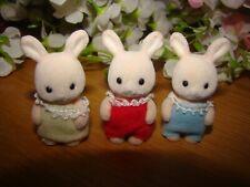 RARE Sylvanian Families TRIPLET BABIES Champagne-Hopkins Rabbit Family UK