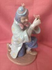 Heavy Porcelain Glazed Pastel Coloured Kneeling Clown Collectible Ornament