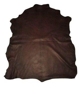Ultra Premium Dark Chocolate Grain Goatskin Leather Hide Soft 2.5 oz Goat Skins
