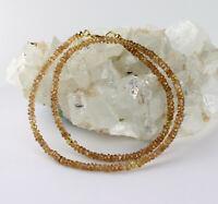 Natur Zirkon Kette edelsteinkette facettierte zimtfarbe Designer Collier 47,5 cm