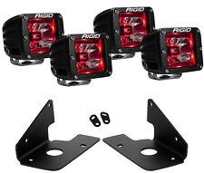 Rigid Radiance LED Fog Light Red Backlight for 11-14 Chevy Silverado 2500 3500