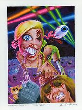 2014 Topps Hollywood Zombies Original Painting Miley Cyrus by Joe Simko