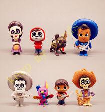 8 Piezas Disney Dibujos Animados Película Coco Miguel Hector Precioso PVC Figura