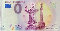 BILLET 0  EURO BERLIN SIEGESSAULE  ALLEMAGNE 2018  NUMERO 1000