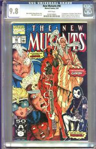 New Mutants #98 CGC 9.8 NM/MT WHITE Pages Universal CGC #0259718003