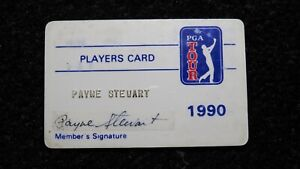 1990 Payne Stewart Match Used PGA Tour Members Golf Players Card! Signed Masters