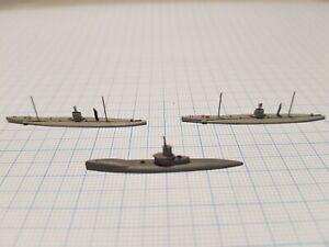 "Navis NM178/74N ""R-class"" Sub GB 1918 & ""U9"" Sub Germany 1911 WWI 1/1250"