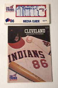 1986 MLB Baseball Cleveland Indians Media Guide Souvenir Program Lot of 2