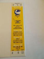 1990-91 Saskatoon Blades Lethbridge Hurricanes Full Unused Ticket  SK3