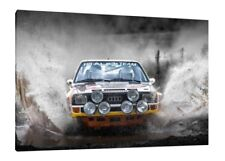 Audi Quattro 30x20 Inch Canvas Art - Framed Picture Group B Rally Art
