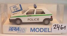 Igra / Rietze 1/87 728 Skoda Favorit Limousine Militär-Polizei Policie OVP #2461