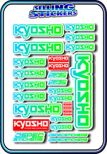 KYOSHO MODEL RC CAR DRONE BOAT BUGGY MINI Z STICKERS DECALS ROBOT R/C BLU/GRE W
