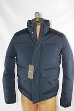 AUTH $1750 Gucci Men Men Navy Padding Winter Jacket 54/XL