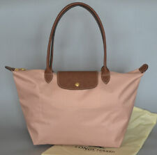 New Pink Longchamp Le Pliage Nylon Tote Bag Handbags size L
