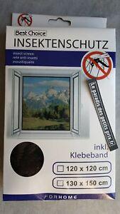 moustiquaire pour fenêtre,130 x 150 cm avec fixation scratch