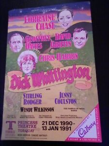 PRINCESS THEATRE TORQUAY flyer DICK WHITTINGTON with LORRAINE CHASE