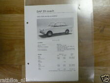 DA9-DAF  33 COACH 1970-1974 EINDE PRODUCTIE -INFO