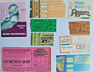 SEVEN USED CONCERT TICKETS & TWO BACKSTAGE PASSES Auction