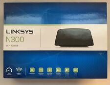 LINKSYS N300 Wi-Fi E1200 300 Mbps 4 Ports Wireless-N Router w/ Install CD & Box
