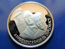 "Timeless Classic ""Apprenticeship In Diplomacy"" Legacy Of JFK Silver Medal"