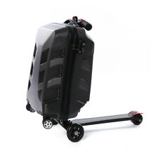 21'' Suitcase Travel Luggage W/ Scooter Luggage Scooter Ride-on Trolley Luggage