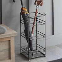 Vintage Steel Metal Umbrella Stand Flat Base Walking Stick Organizer Holder UK