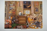 ROCKY TOP DREAMS Tennessee Vols Football Gale Osborne Lithograph Print Picture
