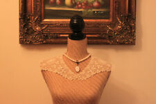Gorgeous Antique Hand Made Lace Collar Needle Work.