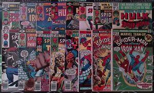 Marvel Team-Up Lot of 32 (#9-150) 1973-1985 Spider-Man Iron Man Hulk Moon Knight