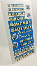 Bigfoot Sticker sheet-for diecast trucks/trailers/billboard s/etc-Custom Stickers