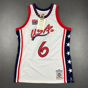 100% Authentic Penny Hardaway Mitchell Ness 1996 USA Jersey Size 44 L Mens