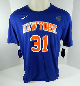 Mens New York Knicks Ron Baker #31 DriFit Blue T-Shirt L Nike NWT