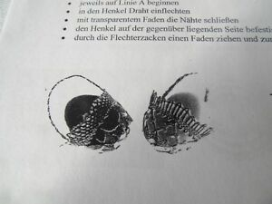 Klöppeln Klöppelbrief 541  Osterschmuck Körbchen  Klöppelbedarf Basteln