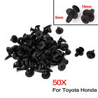50x Car Bumper Fender 6mm Hole Black Plastic Rivets Fasteners Clips Toyota Honda