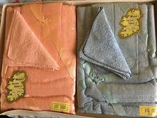 VINTAGE TOWEL BABY SET . PINK &  BLUE : BOXED