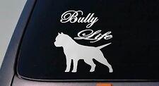 AMERICAN BULLY life DOG sticker car decal script font Pit Bull Pitbull *B174*