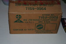 """BIG JIM   MATTEL 1982 """"COMPLETE BOX WITH 12  OUTFITS """" RARE"""