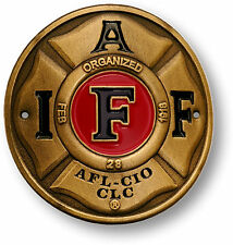 NEW International Association of Fire Fighters IAFF Hiking Stick Medallion 48114
